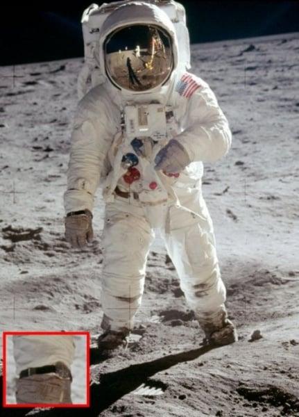 Aldrin na powierzchni Księżyca