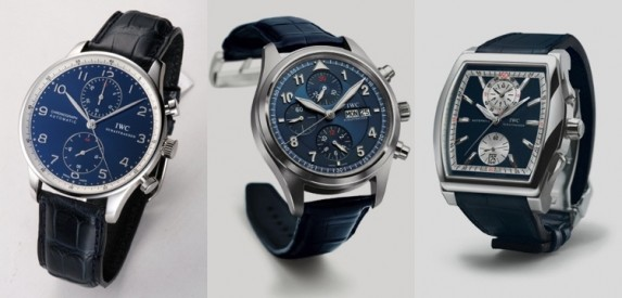 Od lewej: Chronograf Portuguese, Chronograf Pilot Spitfire, Chronograf Da Vinci