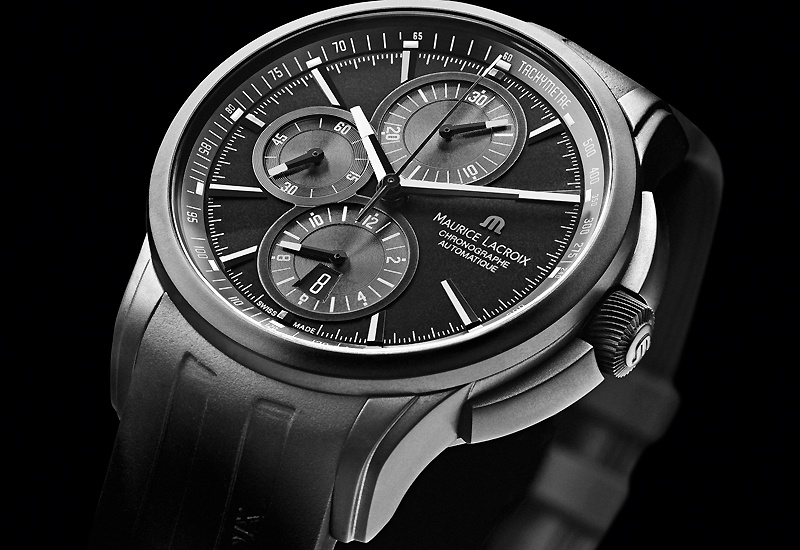 Maurice Lacroix Pontos Chronograph Full Black and Titanium