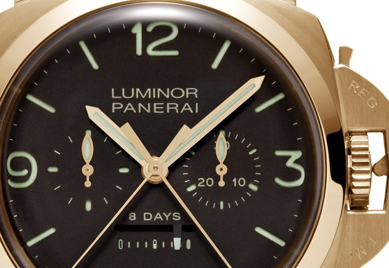 Officine Panerai – Luminor 1950 8 Days Rattrapante Pink Gold