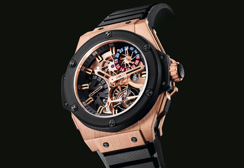 BASEL 2010: HUBLOT Gold King Power Tourbillon GMT