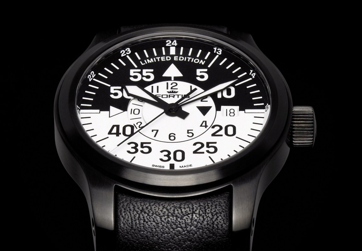 FORTIS B-42 FLIEGER BLACK COCKPIT GMT