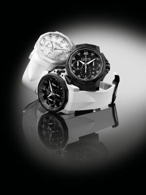 Admiral's Cup Challenger 44 Chrono Rubber w bieli i czerni