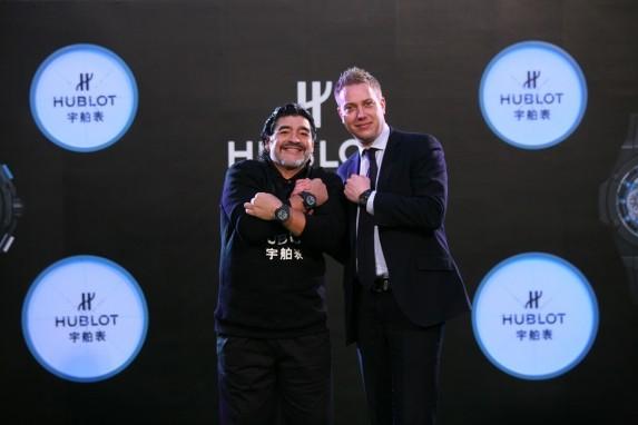 Diego Maradona i Loic Biver