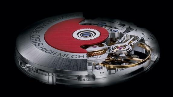 Mechanizm Oris z widocznym czerwonym rotorem