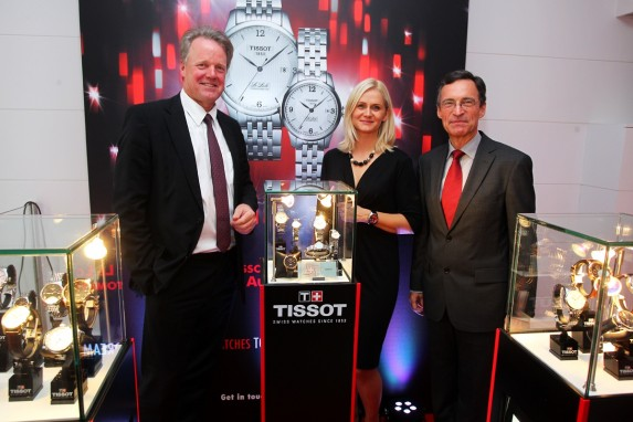 Stanley Bark (Prezes Swatch Group Polska), Agnieszka Ławniczak-Czajkowska (Brand Manager Tissot), Lucas Beglinger (Ambasador Szwajcarii)