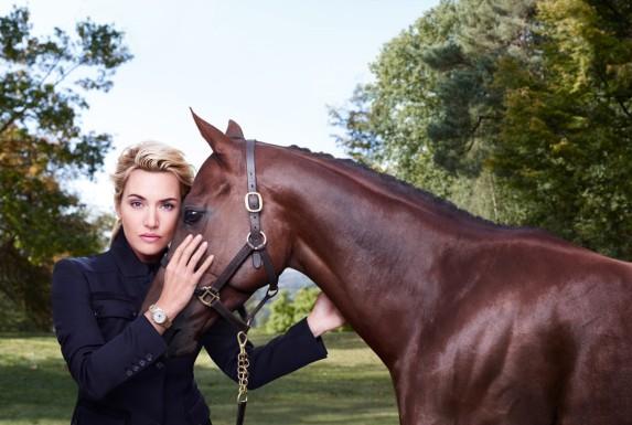 Kate Winslet z zegarkiem Longines na nadgarstku