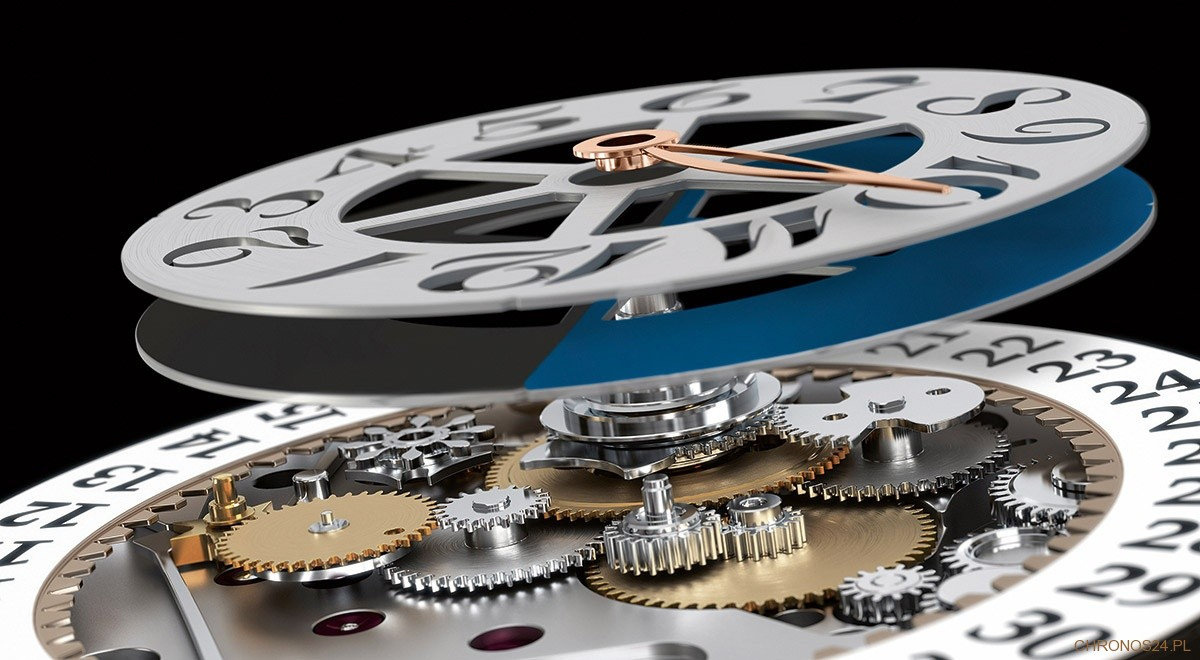 Montblanc Rising Hours - struktura mechanizmu