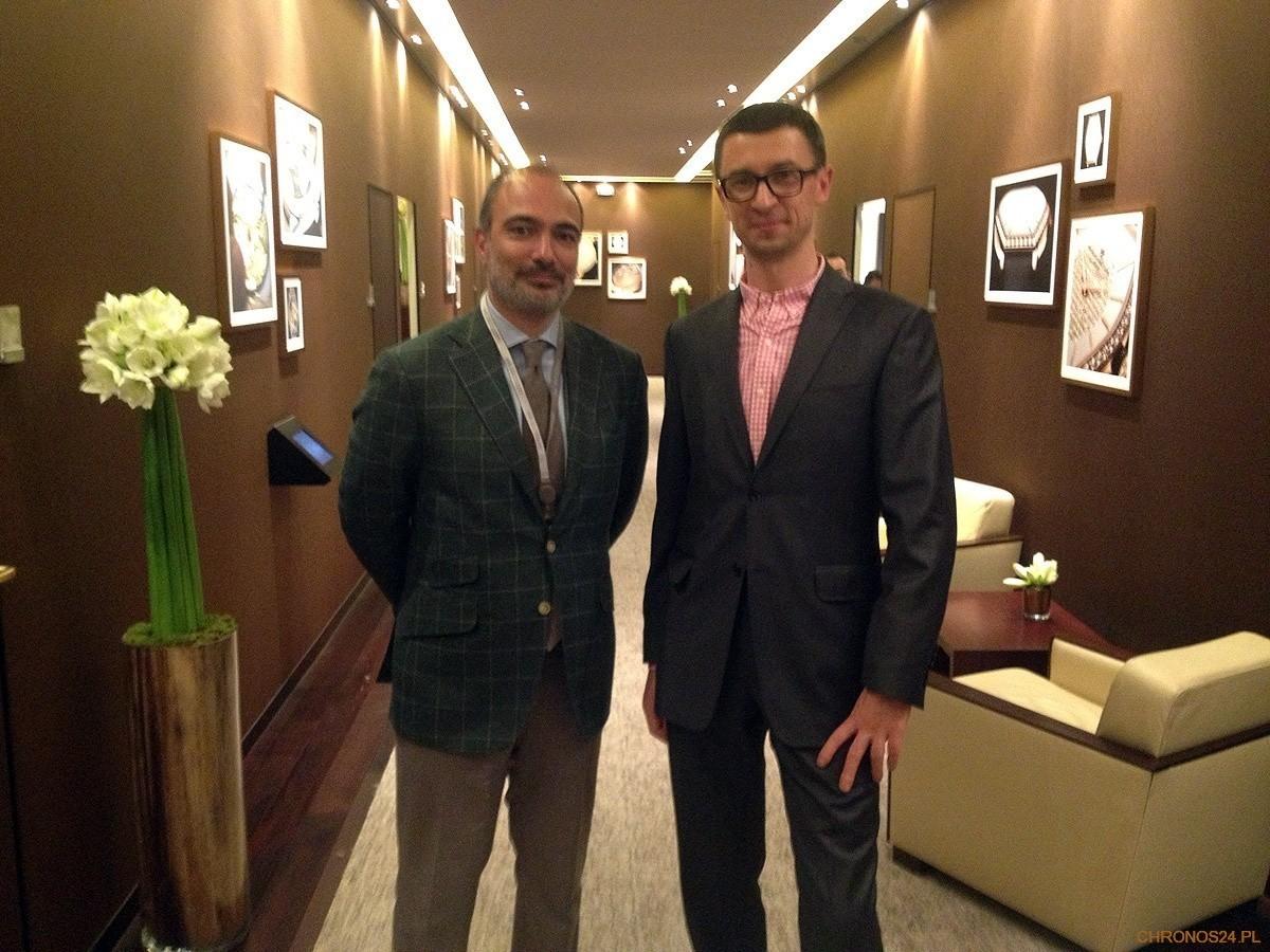Alexandre Ghotbi (Vacheron Constantin) i Tomasz Kieltyka (CH24.PL)