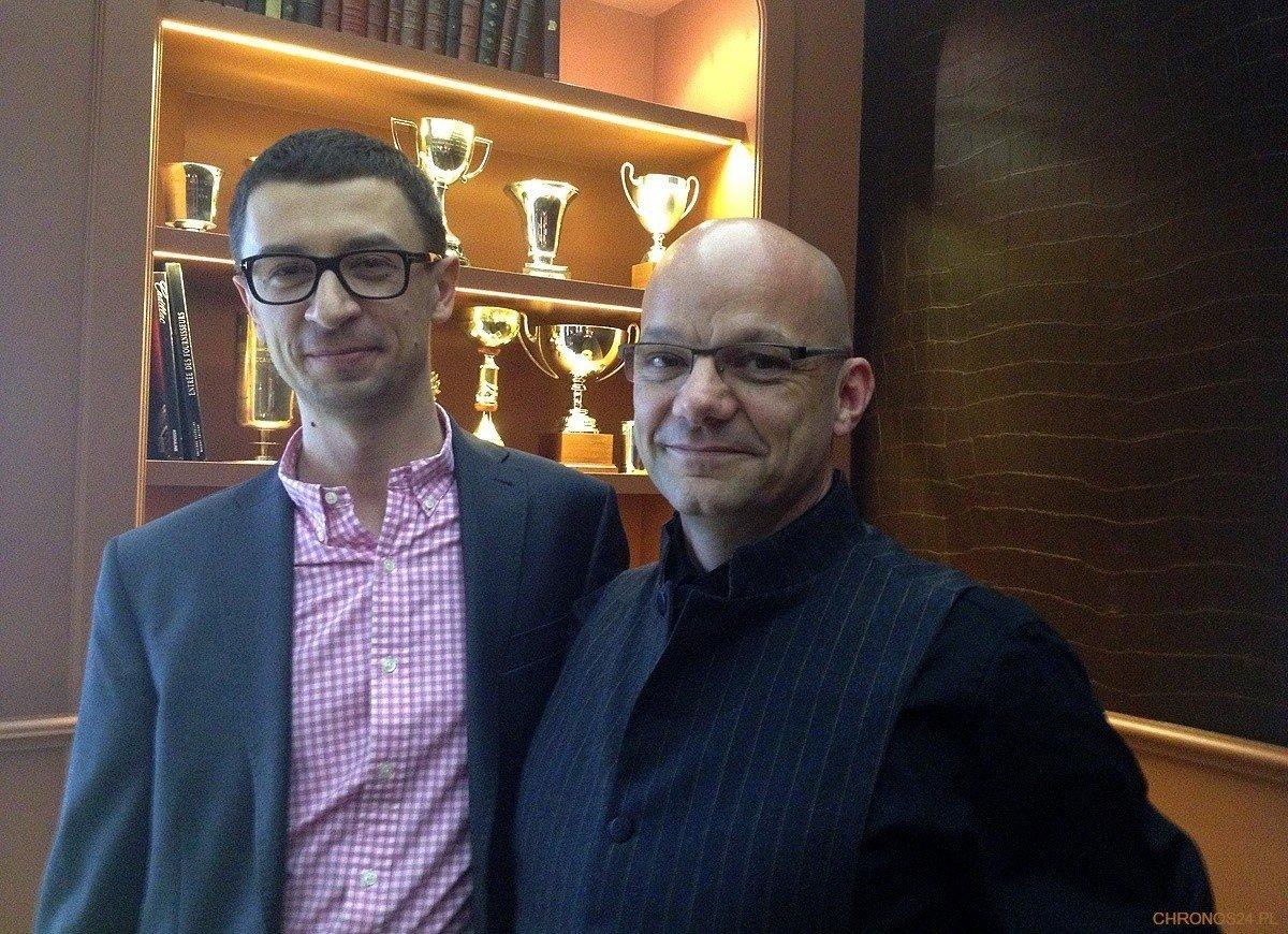 Od prawej: Alexandre Peraldi (Baume&Mercier) i Tomasz Kiełtyka (CH24.PL)