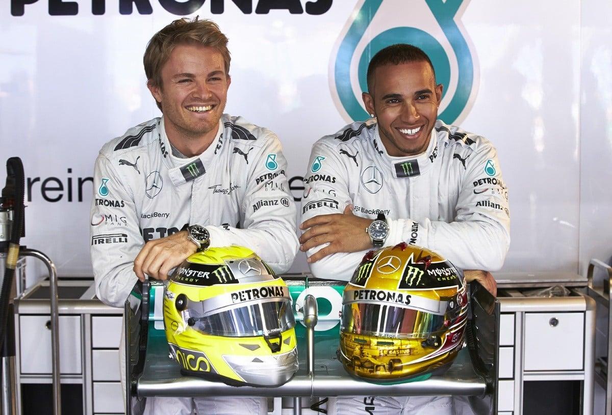 Hamilton, Rosberg i IWC