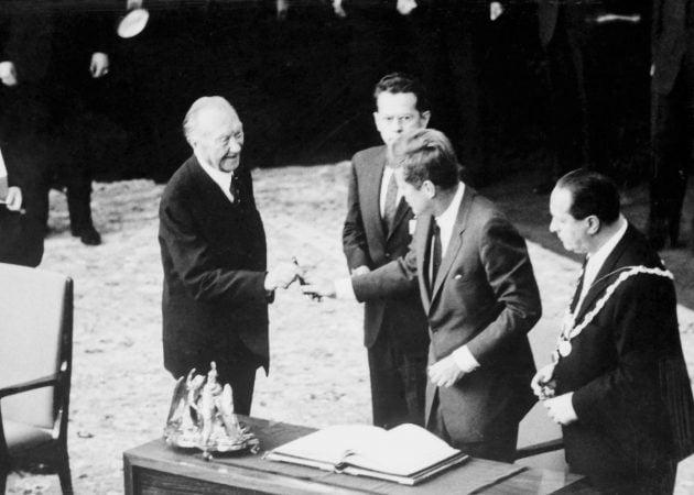 Adenauer i Kennedy - rok 1963