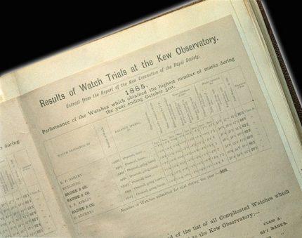 Obserwatorium Kew - wyniki z 1885 roku