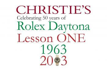 "Rolex Daytona ""Lesson ONE"""