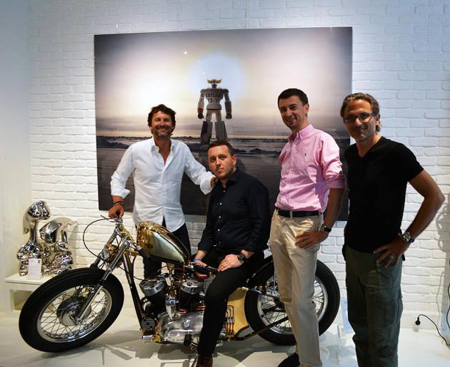 (od lewej): Max Büsser, Łukasz Doskocz, Tomasz Kiełtyka, Charris Yadigaroglu