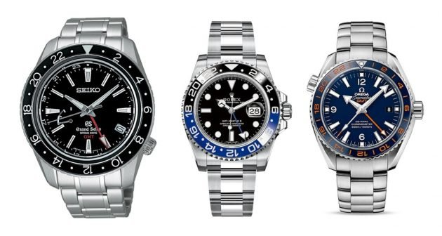 od lewej: Seiko, Rolex, Omega