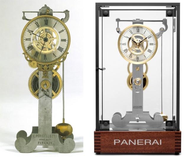 Pendulum Clock w towarzystwie zegara, który był inspiracją