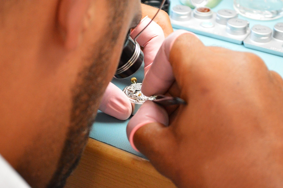 watchmakers at work - La Chaux-de-Fonds