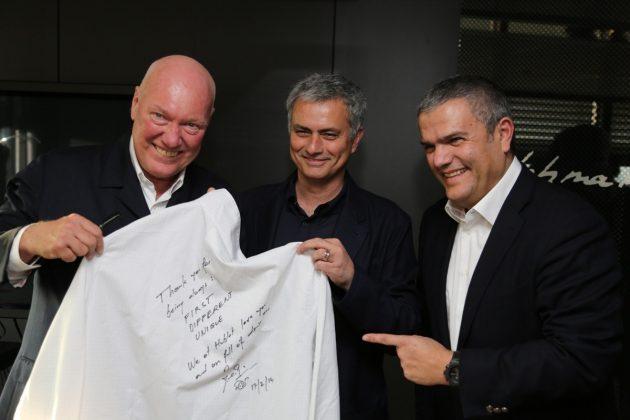 od lewej: Jean-Claude Biver, Jose Mourinho i Ricardo Guadalupe