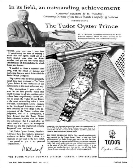 Hans Wilsdorf prezentuje Tudora