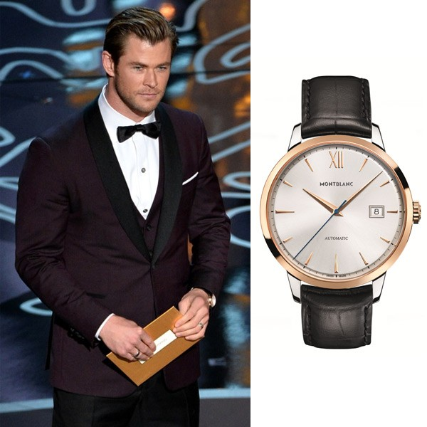 Chris Hemsworth Montblanc Meisterstuck Heritage Automatic Date