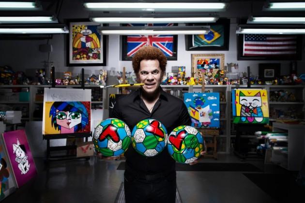 Romero Britto i piłki Hublot