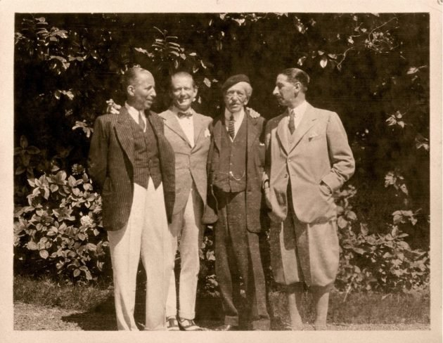 Alfred Cartier i synowie Pierre, Louis i Jacques (1922 rok)