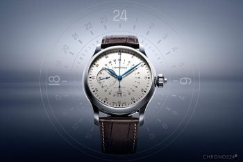 Longines Twenty-Four Hours Single Push-Piece Chronograph