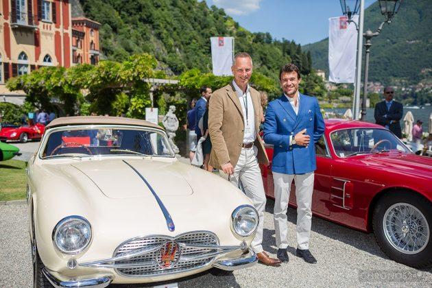 Wilhelm Schmid (po lewej), samochody i Concorso d'Eleganza 2014