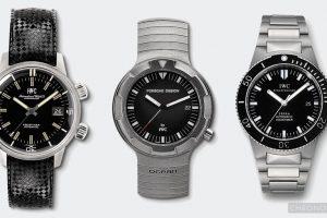 od lewej: Aquatimer 1967, Ocean 2000 i GST