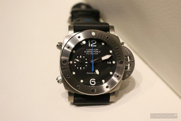 PAM00614 Luminor Submersible 1950 3 Days Chrono Flyback
