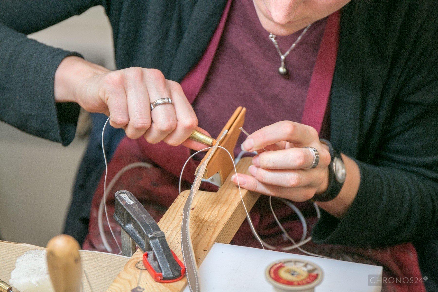 Produkcja pasków do zegarków Hermès