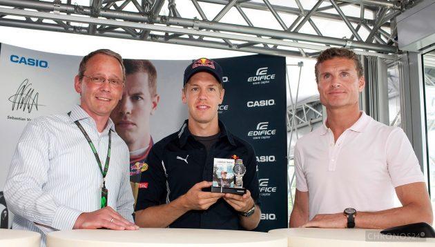 Sebastian Vettel i Casio