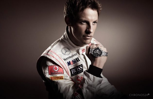 Jenson Button i TAG Heuer