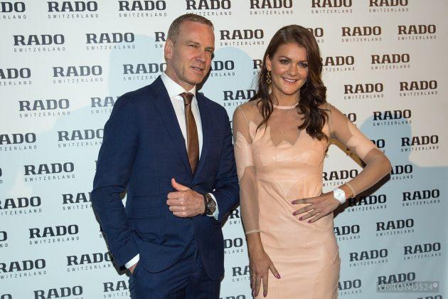 Matthias Breschan (CEO Rado) i Agnieszka Radwańska