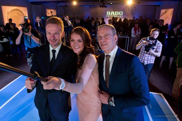 Marek Lis (Brand Manager RADO w Polsce), Agnieszka Radwańska i  Matthias Breschan (CEO RADO)