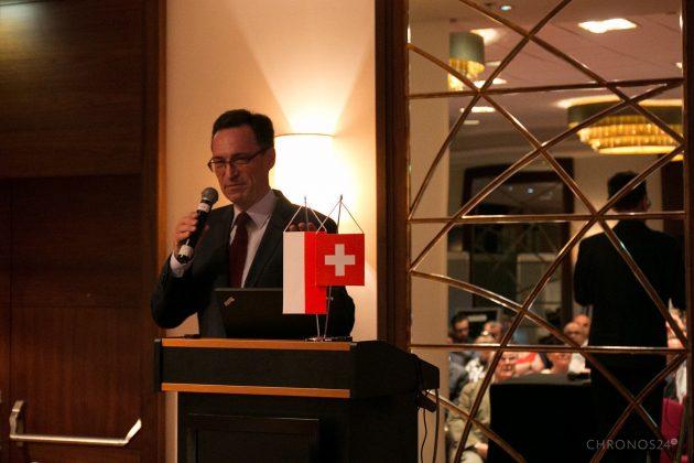 Ambasadro Szwajcarii Lukas Beglinger - XI Spotkanie Klubu Miłośników Zegarów i Zegarków
