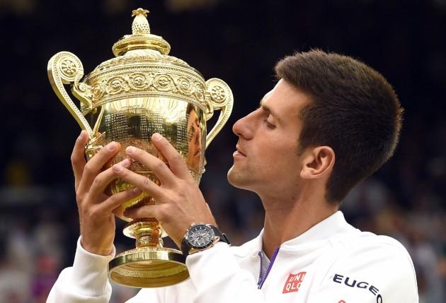 Novak Djokovic z modelem Seiko Astron Limited Edition na nadgarstku / foto: Karwai Tang/WireImage