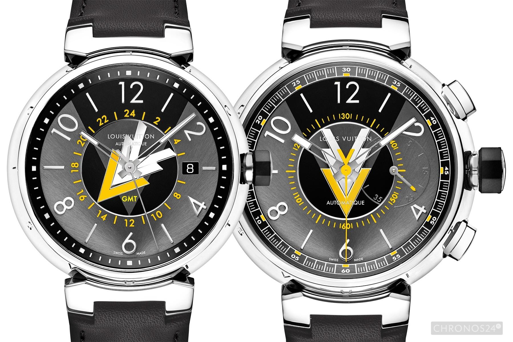 Louis Vuitton Tambour VVV GMT i Chrono