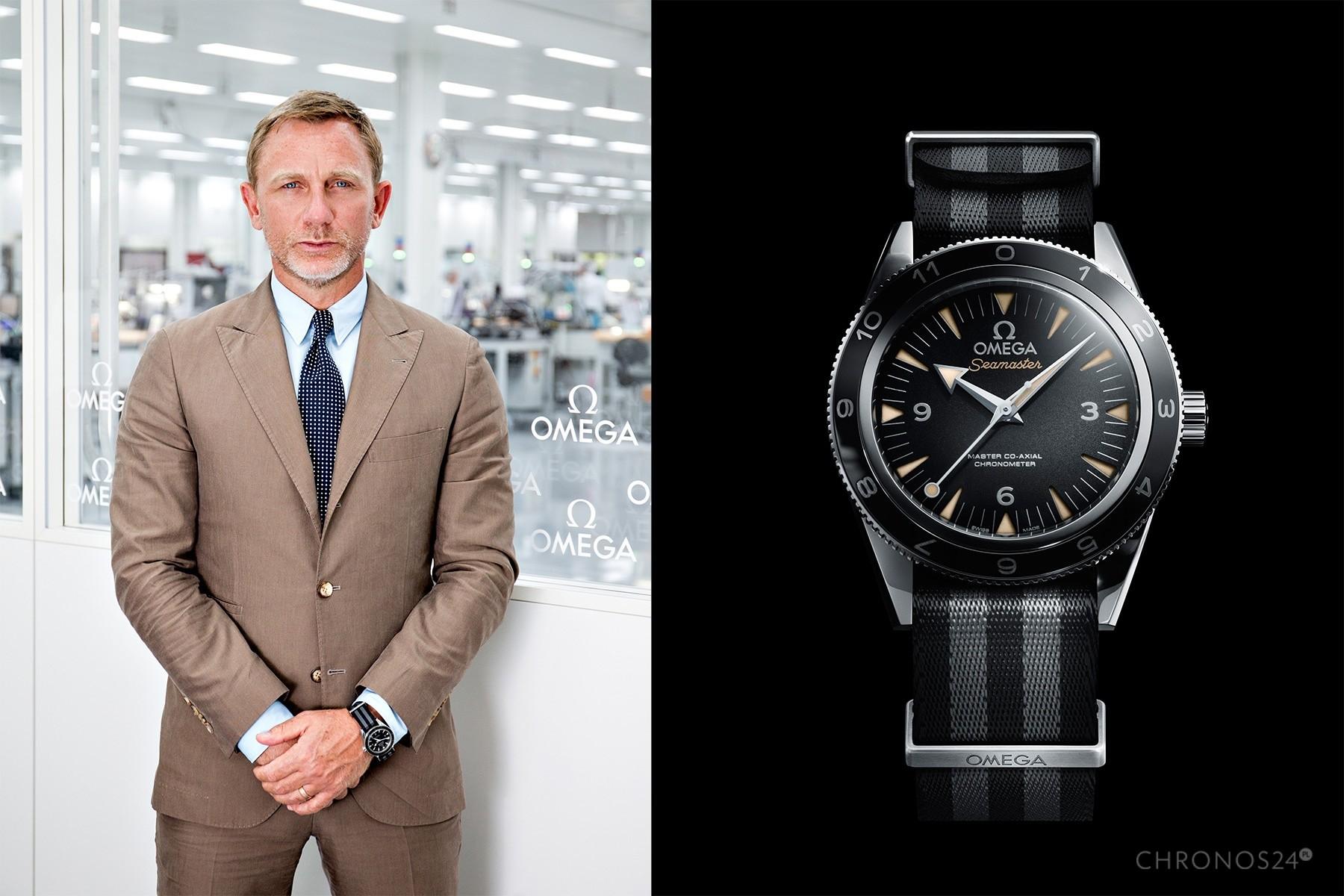 Daniel Craig i Omega Semaster 300 Spectre