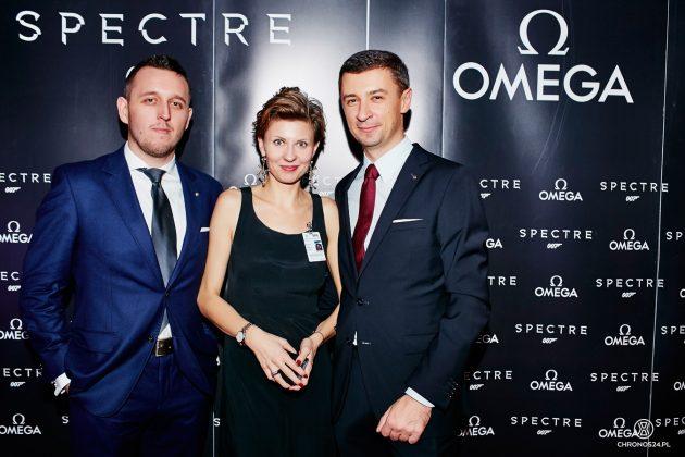 Łukasz Doskocz, Emilia Sawicka (PR Manager Swatch Group Polska) i Tomasz Kiełtyka