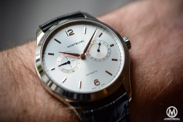 Montblanc Heritage Chronométrie Collection Twincounter Date / foto: monochrome-watches.com