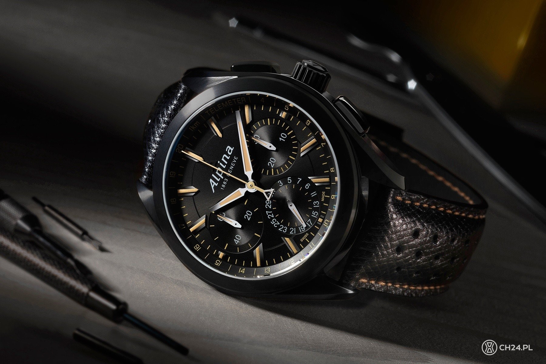 "Alpina Alpiner 4 Flyback Chronograph ""Full Black"""