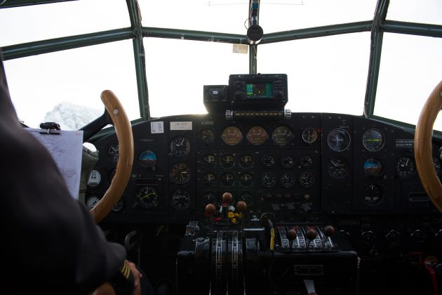 Ju-52 - kokpit
