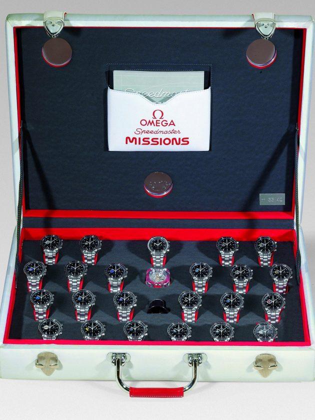 Speedmaster Missions Collection, nr. 33 (firma Omega wykonała w 1998 r. tylko 40 takich zestawów) / foto: Antiquorum