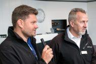 Rafał Wawrzyniak (Prezes Zarządu Mercedes-Benz Sosnowiec) oraz Andreas Meyer (AMG)