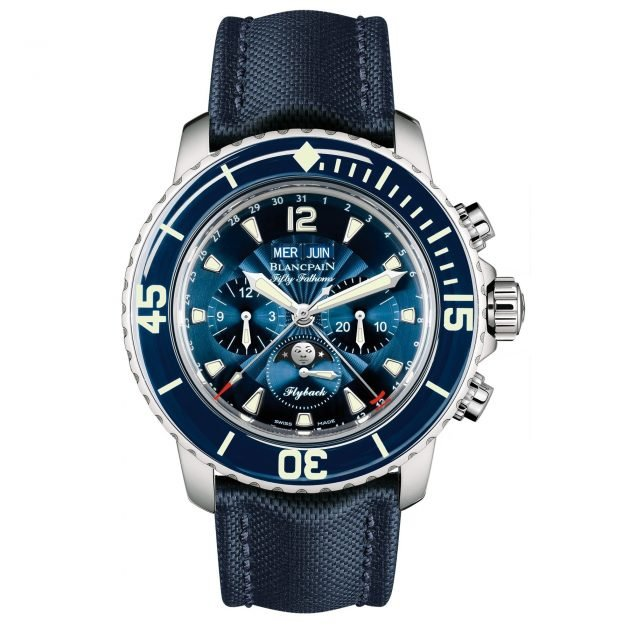 Blancpain Fifty Fathoms kompletter Kalender Moonphase Flyback-Chronograph