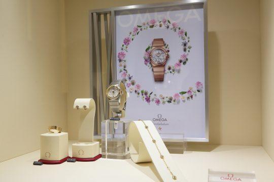 Prezentacja zegarka i biżuterii Omega