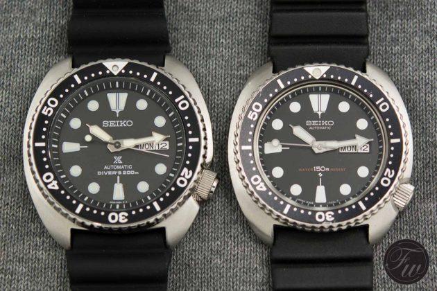 """Seiko SRP777 """"Turtle"""" (po lewej) i 6309"""