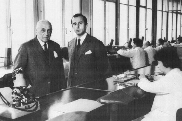 Jack Heuer z ojcem - 1958 rok